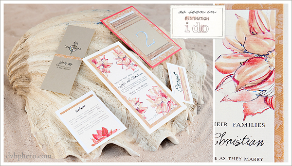amazing hand painted wedding invitations - celebrity style weddings,