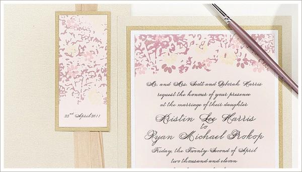 Amazing Hand Painted Wedding Invitations