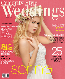Celebrity Style Weddings Magazine April 2013 Cover