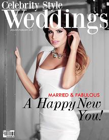 Celebrity Style Weddings Magazine Cover January-February 2014