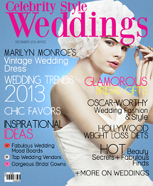 Celebrity Style Weddings Magazine December 2012 Cover