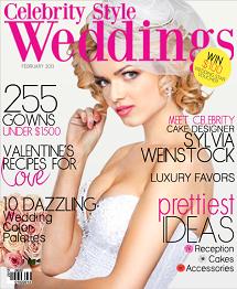 Celebrity Style Weddings Magazine February 2013 Cover
