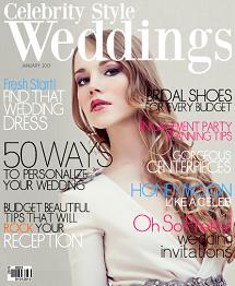 Celebrity Style Weddings Magazine January 2013 Cover