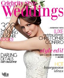 Celebrity Style Weddings Magazine July 2013 Cover