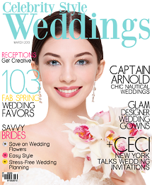 Celebrity Style Weddings Magazine March 2013 Cover