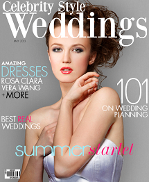 Celebrity Style Weddings Magazine May 2013 Cover