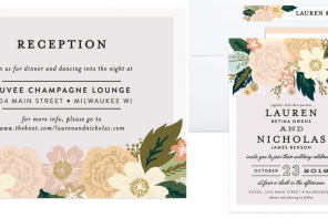 The New Minted Envelope With Free Guest Name Printing