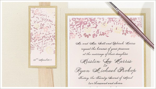 Painted Wedding Invitations: Amazing Hand Painted Wedding Invitations